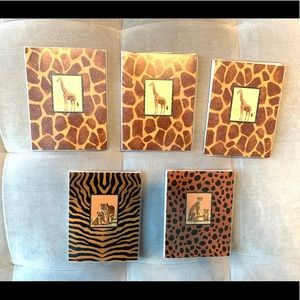 Set 5 Animal Print Photo books Tiger Zebra Cheetah